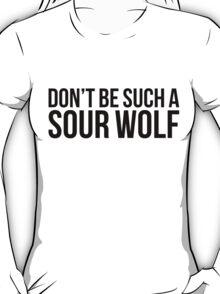 Sour Wolf - black text T-Shirt