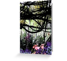 Vines and flowers Greeting Card