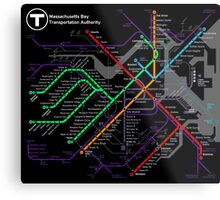 MBTA Boston Subway - The T Metal Print