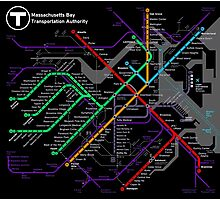 MBTA Boston Subway - The T Photographic Print