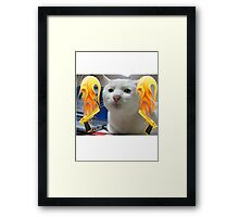 Atomic Cat Framed Print