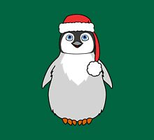 Christmas Penguin with Red Santa Hat T-Shirt