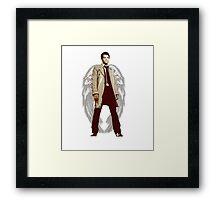Winged Castiel Framed Print