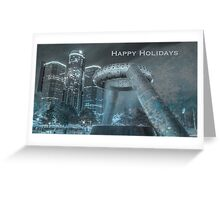 Happy Holidays from Detroit 2  Greeting Card