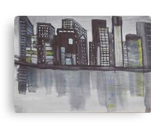 Night Cityscape. Canvas Print