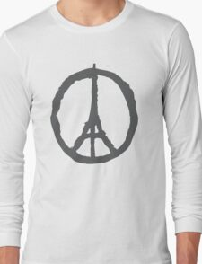 Peace for Paris - gray - paix pour Paris - gris - Pray Long Sleeve T-Shirt