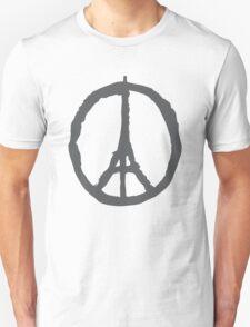 Peace for Paris - gray - paix pour Paris - gris - Pray Unisex T-Shirt