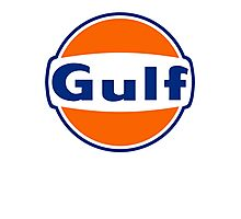 Vintage Gulf Racing Old Lubricant oil Photographic Print
