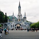 Our Lady Of Lourdes Basilica Of The Rosary. France. by Ralph de Zilva