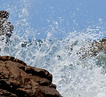 Rocks and waves 4 by Ives Martinez