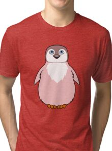 Light Pink Baby Penguin Tri-blend T-Shirt