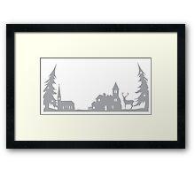 Winter Village Framed Print