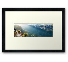Perrys Lookdown, Blue Mountains, New South Wales, Australia Framed Print