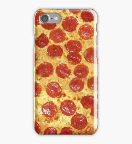 Delicious Pepperoni / Salami Pizza - Pattern with extra cheese iPhone Case/Skin