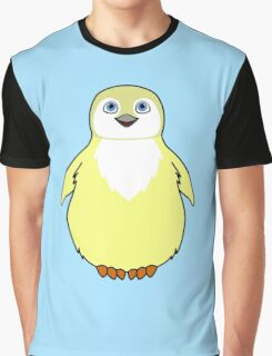 Light Yellow Baby Penguin Graphic T-Shirt