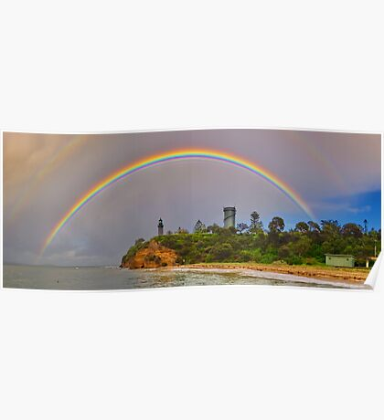 """""""Rainbow Over The Rip"""" Poster"""