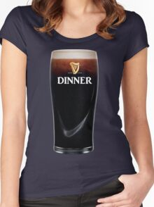 DINNER TIME Women's Fitted Scoop T-Shirt