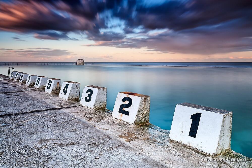 Merewether Ocean Baths - The Starting Blocks  by Michael Howard