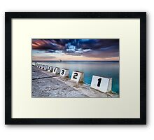Merewether Ocean Baths - The Starting Blocks  Framed Print