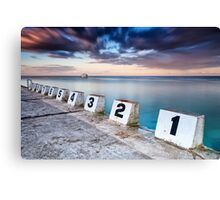 Merewether Ocean Baths - The Starting Blocks  Canvas Print