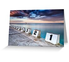 Merewether Ocean Baths - The Starting Blocks  Greeting Card