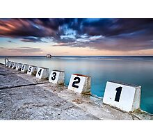 Merewether Ocean Baths - The Starting Blocks  Photographic Print