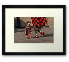 Let's walk Framed Print