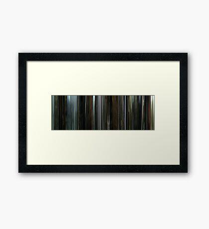 Moviebarcode: Beaufort (2007) Framed Print