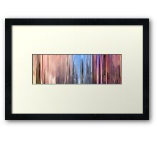 Moviebarcode: Partly Cloudy (2009) Framed Print