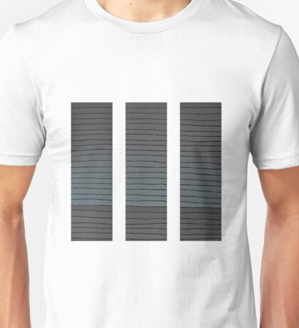 The Greyscale Collection no.6 Triptych Unisex T-Shirt