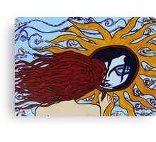 Sun Mirror Canvas Print