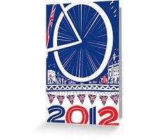 2012 London Eye A3 print Greeting Card