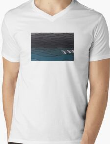 The Greyscale Collection no.9 Mens V-Neck T-Shirt