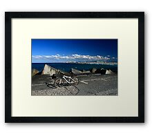 Push Bike and Surfers Paradise Framed Print