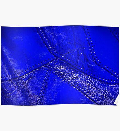 """Cobalt blue """"leather"""" look design Poster"""