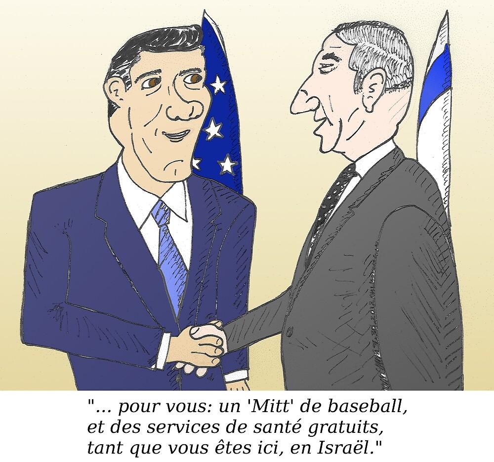 Mitt et Bibi en caricature des news options binaire by Binary-Options