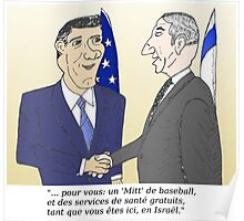 Mitt et Bibi en caricature des news options binaire Poster