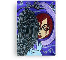 Moon Mirror Canvas Print