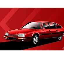 Citroen CX Turbo 2 GTI Poster Illustration by Autographics