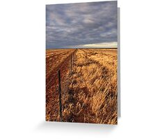Hope of rain on the Hay Plain Greeting Card