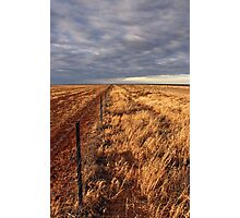 Hope of rain on the Hay Plain Photographic Print
