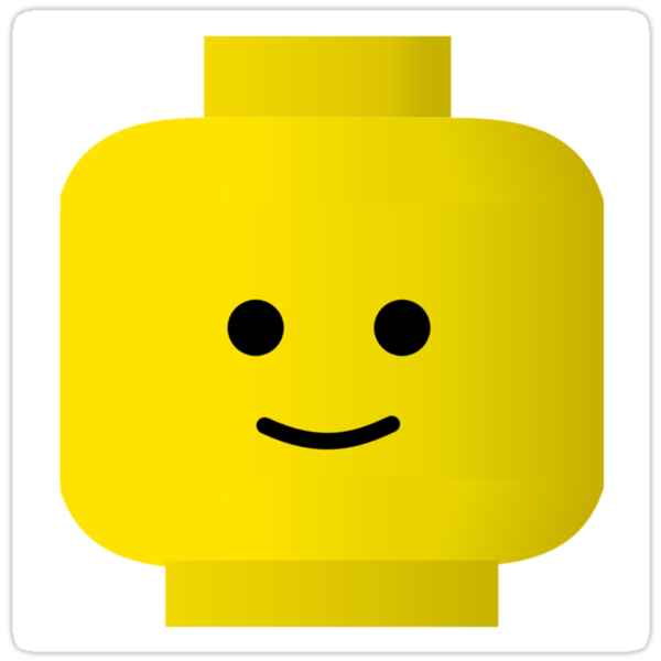 Smiley Minifig Head by Customize My Minifig by ChilleeW