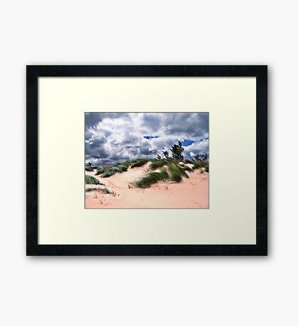 Wind Swept Sand Dunes Framed Print