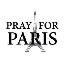 Pray for Paris Photographic Print