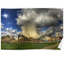 Demolition of Bridgeman House Hull 2012 Poster