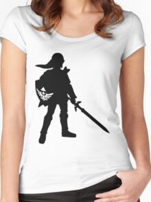 The Legend of Zelda Link Silhouette Women's Fitted Scoop T-Shirt