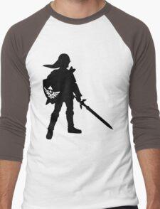 The Legend of Zelda Link Silhouette Men's Baseball ¾ T-Shirt