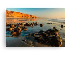 California Beach Sunset Canvas Print