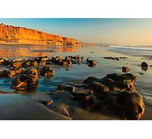 California Beach Sunset Photographic Print