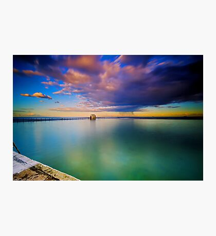 Incoming Storm- Merewether Ocean Baths #2 Photographic Print